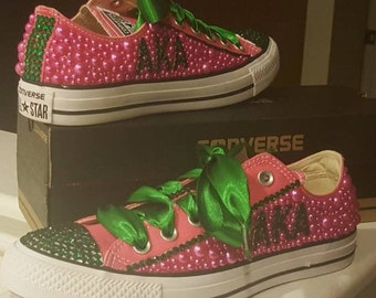 2a0f0b90971b AKA Rhinestone Bling Converse shoes