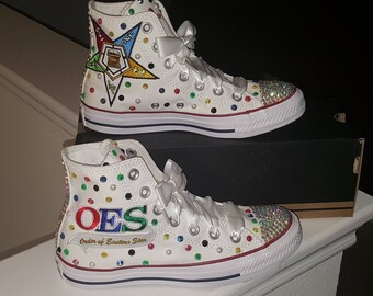 2f05e5f2f2c706 High Top Easter Star Converse Bling Sneakers