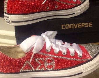 011d86a8ec17ab Rhinestone and pearl delta bling converse