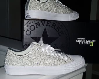 657302ed91885d Chuck2 Custom Pearl Converse Bling Limited Sizes