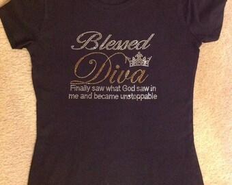 Blessed Diva Rhinestone T-Shirt