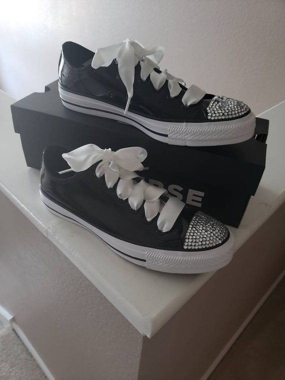 Details about Womens Diamante Converse