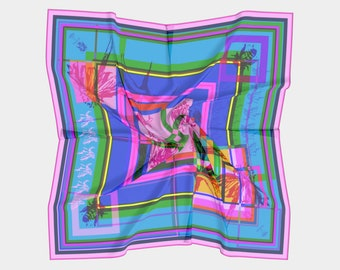 coneflower rainbow sherbet scarf