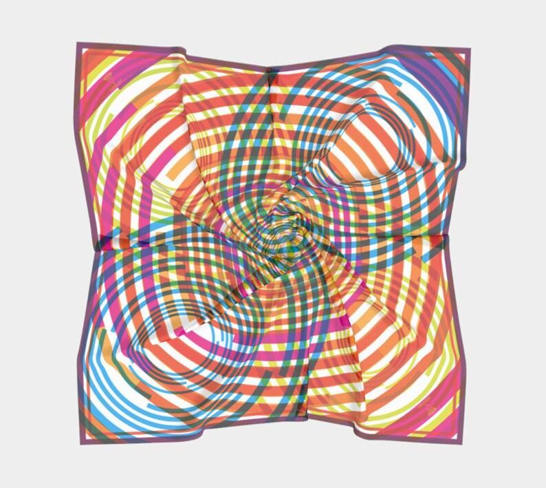 technicolor ripples scarf  natural fibers image 0