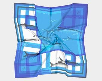 herring scarf - natural fibers