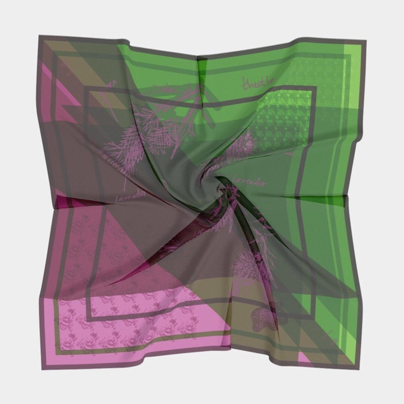 thistle & bee scarf  natural fibers image 0
