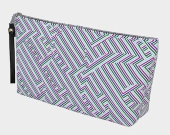 royal stripe ampersand clutch