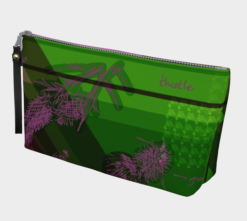 thistle & bee clutch image 0