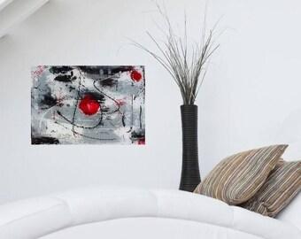 Happy Clown, abstract painting, contemporary art, acrylic