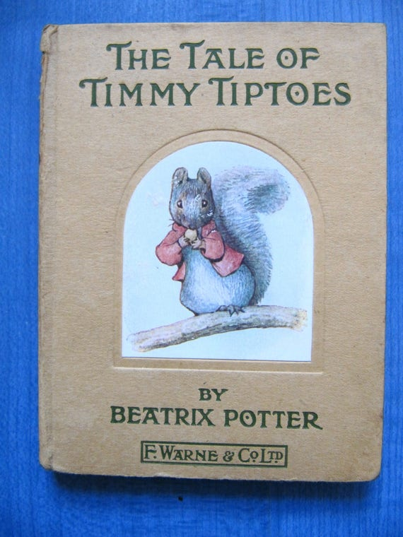 Beatrix Potter The Tale Of Timmy Tiptoes C1920 Etsy