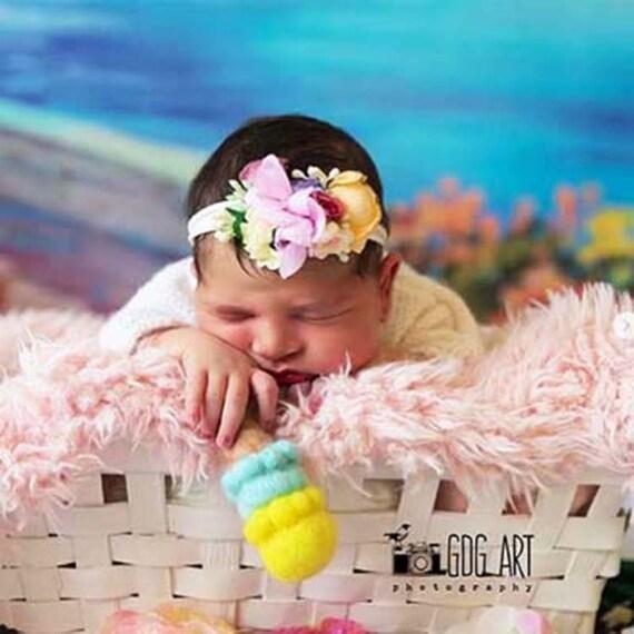 photo newborn props set photo props Needle felted Icecream Set felted stuffy toys newborn photography props