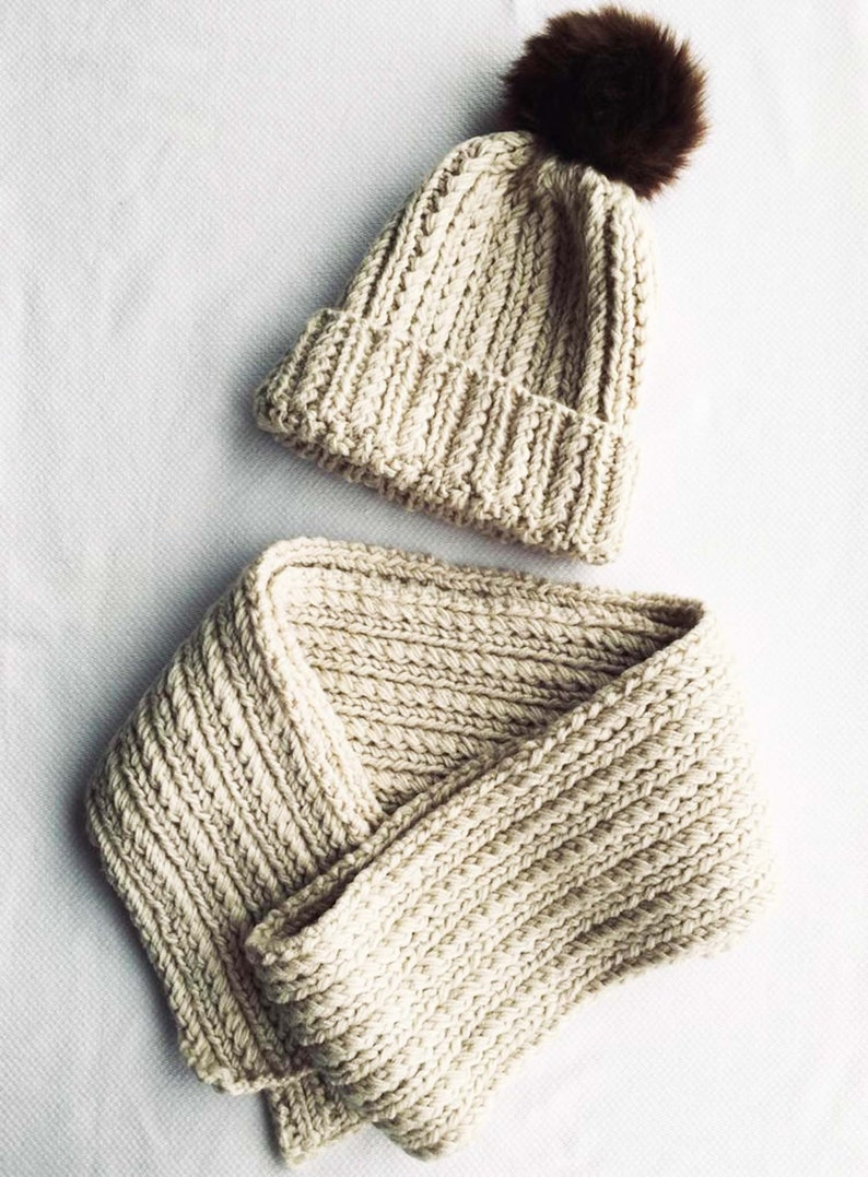 READY TO SHIP knit accessories antiallergic winter beret Handmade scarf crochetknitted child scarf and hat set knitted warm hat