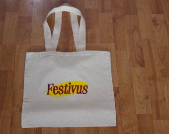 Seinfeld hand painted, hand embroidered tote bag