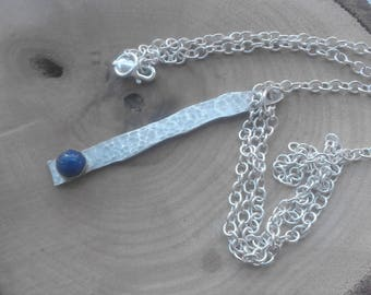 Crest of the wave lapis and silver necklace