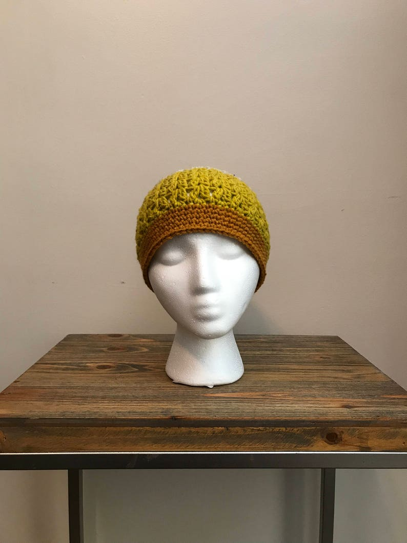 c76228e3fc7 Crochet messy bun hat honey glazed | Etsy