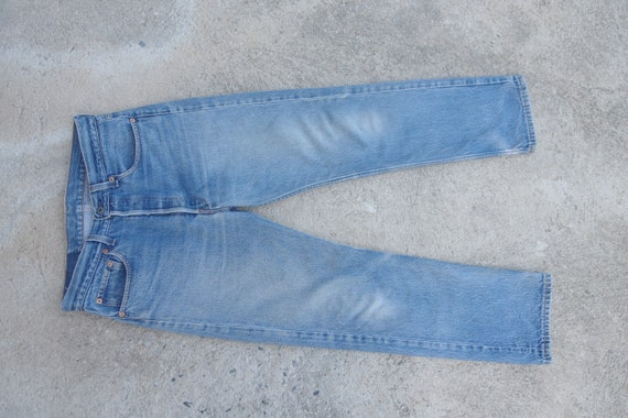 Beautiful Faded jeans, levis 501 Blue Jeans W32,vi
