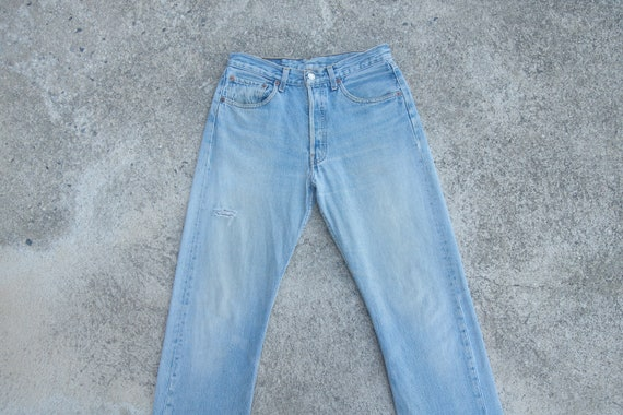 Faded jeans levis 501 Blue Jeans W29 L30.8,levis r