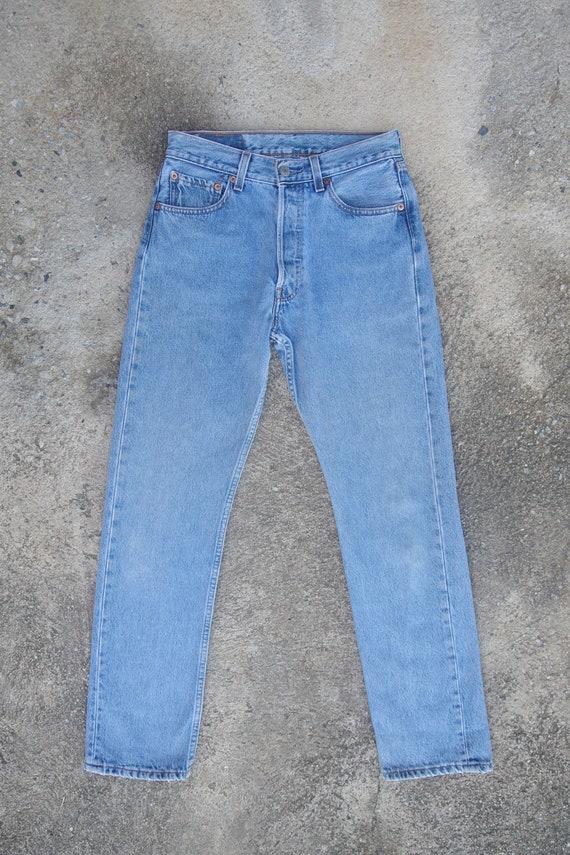 Beautiful ,Faded jeans,vintage levis 501 W27 W27.5