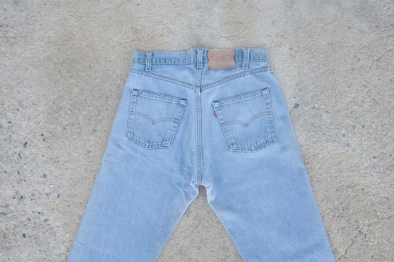 Faded vintage levis 505 single stitch 70s 80s ,W32