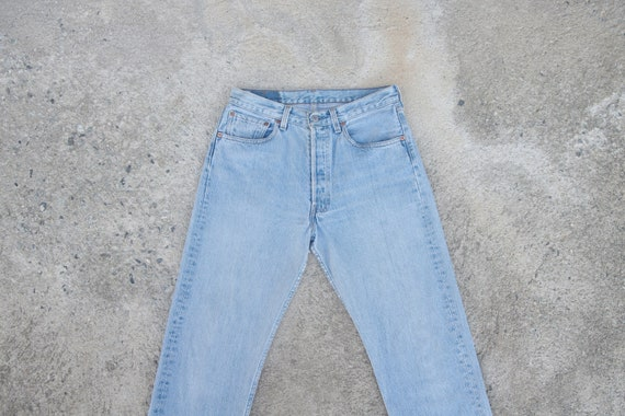 Faded jeans ,Vintage levis 501  W30 L32,levis for