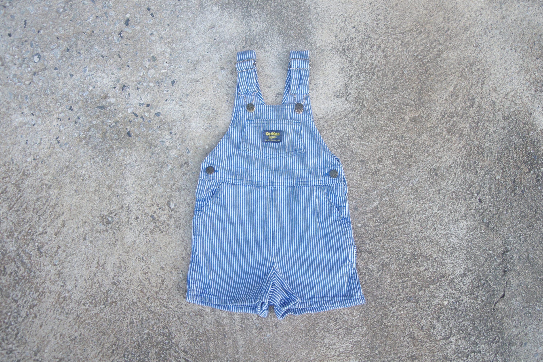 Vintage Overalls & Jumpsuits Vintage Kids Oshkosh Hickory Denim Overalls, Baby Toddler Hickory Oshkosh, Vintage Kids Oshkosh Dungarees, Size 4T, Oshkosh Usa $30.00 AT vintagedancer.com