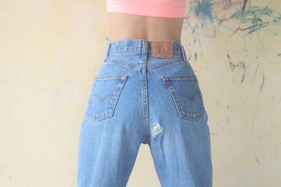 Faded vintage levis 501 Blue Jeans W26 Vintage  Le