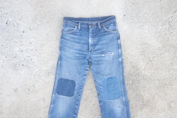 Faded jeans vintage wrangler W31 W32,wrangler ripp