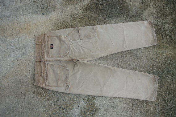 faded ,Vintage Dickies Canvas pants W31 W32, light