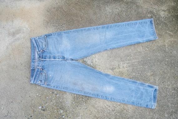 Faded jeans, vintage levis 501xx W29 L31,levis rip