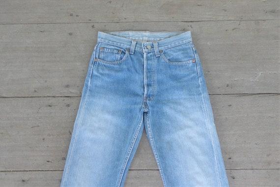 Faded jeans levis 501 Blue Jeans W27,28 Vintage 80