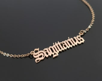 Dec 22 with chain Genuine Sterling Silver Sagittarius Script Zodiac Pendant Nov 23