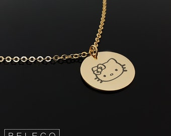 a207995784 Hello Kitty Necklace, Kitty Necklace, Cute Necklace For Girl, Necklace For  Girls, Gift For Little Girl, Hello Kitty Inspired Gift Jewelry