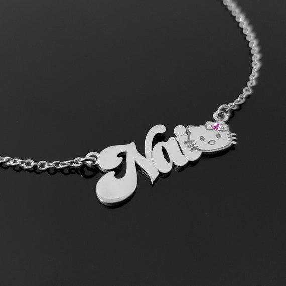 Girls Birthday Personalised Hello Kitty bracelet /& Necklace gift