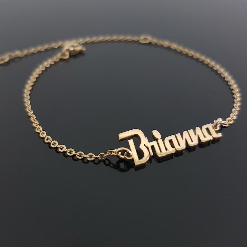 Custom Name Bracelet, 15 Fonts Style To Choose, Customize Your Name  Bracelet, Any Name Bracelet, Custom Bracelet, Custom Jewelry Gold Plated