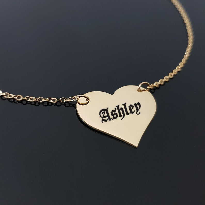 Old English Font Old English Jewelry Old English Letter Old English Name Necklace Custom Old English Name Necklace Old English Font Nam