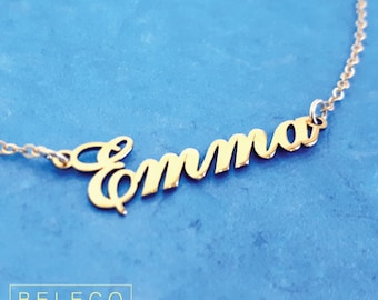Customize Name Necklace, 15 Fonts Style To Choose, Customize Your Name Necklace, Any Pendant Name, Personalized Name Jewelry, Gold Plated 18
