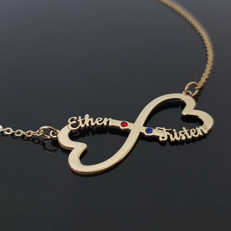 Infinity Names With Birthstones Infinity Name Necklace Infinity Name Pendant Infinity Jewelry Personalized Infinity Infinity Necklace