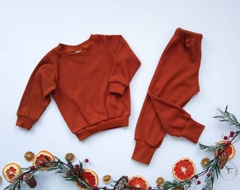 Olive Long Sleeve Organic Baby Romper ~ Made with Organic Cotton Waffle Knit ~ Baby and Child Romper ~ Boy and Girl button Up Rompers ~ Warm