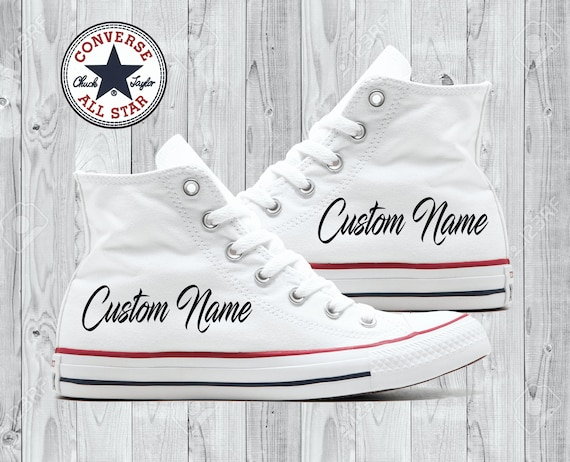 custom converse with name