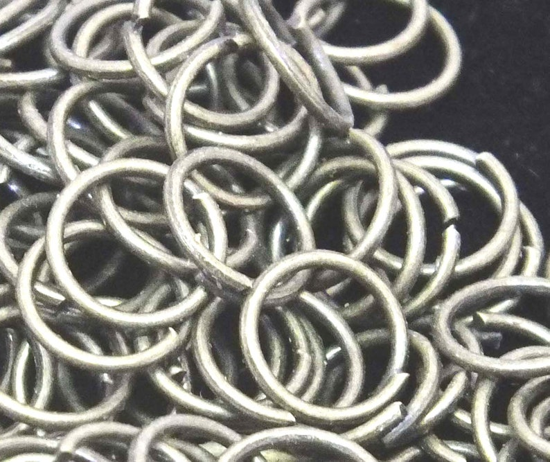 Jump Ringsplit rings 5mm Antique silver tone d.i.y jewellery making supplies crafts
