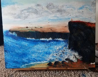 Cliff side finger painting