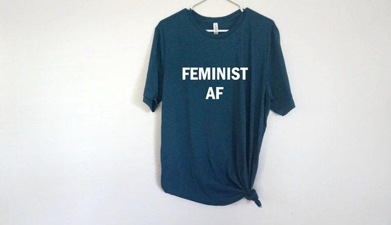 cead738bd Feminist AF Plus Size Women Empowerment Unisex T-Shirt | Etsy