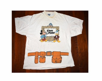5b196486fe Vintage 90s 1994 Disney Family Picknick Disneyland Builder Hanes XL White  T-Shirt Mickey Mouse As Is