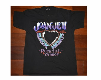 1990 Joan Jett and the Blackhearts Classic Rock Band Tour Concert Shirt Medium T-Shirt Hit List World Tour