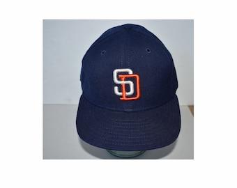 0d212acbb Vintage 1980s 1990s Snapback Trucker Cap Hat Baseball San Diego Padres MLB  New Era Small Medium