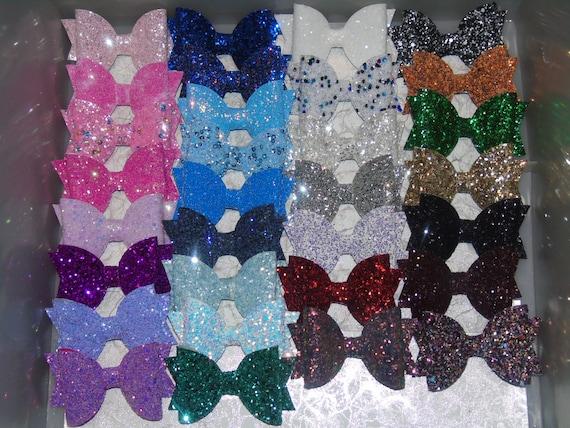 """Sparkling Glitter Girl Hair Bow Clip Headband Bobble Girls Baby 2.5/"""""""