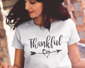 Thankful Shirt - Thankful T-shirt, Thankful, Thanksgiving Shirt, Fall Shirt, Fall Fashion, Grateful Shirt, Thankful Shirts