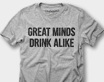 Great minds drink alike-beer shirt,beer,drinking shirt,beer tshirt,craft beer,funny beer shirt,beer gifts,funny shirt,beer lover,oktoberfest