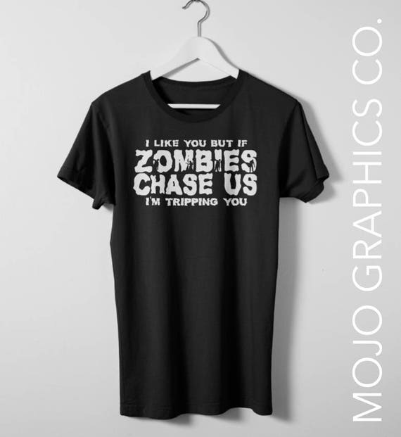 ee4cbc409 Zombie Chasing Us Walking Dead Shirts Zombie Shirts Men | Etsy