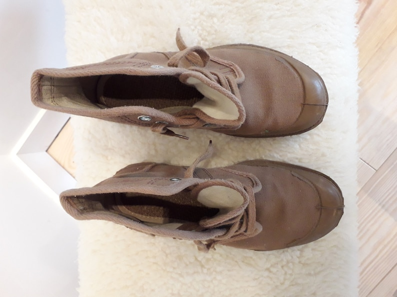 new vintage Palla Brousse shoes Made in France cotton Europa Phoenix collection Palladium